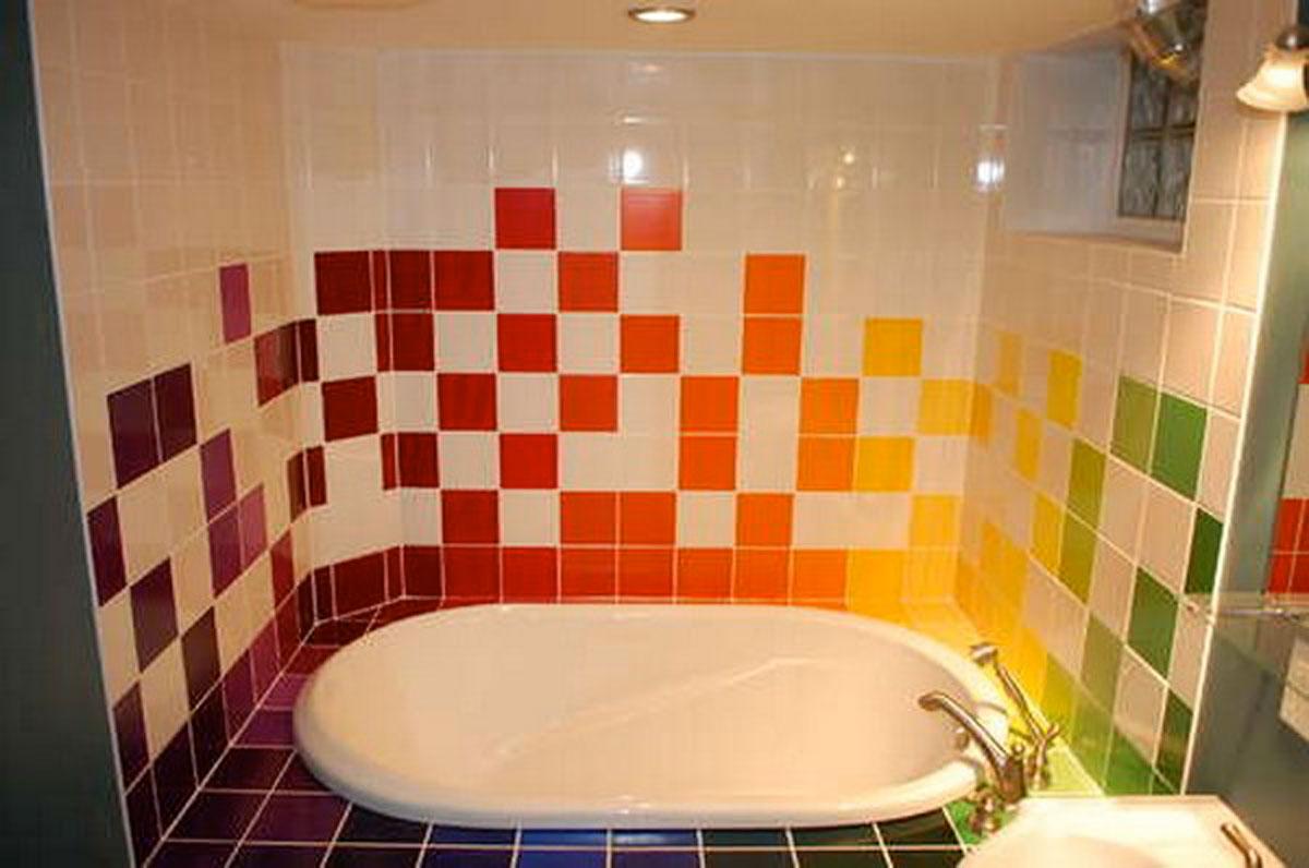 Яркая ванная комната дизайн фото